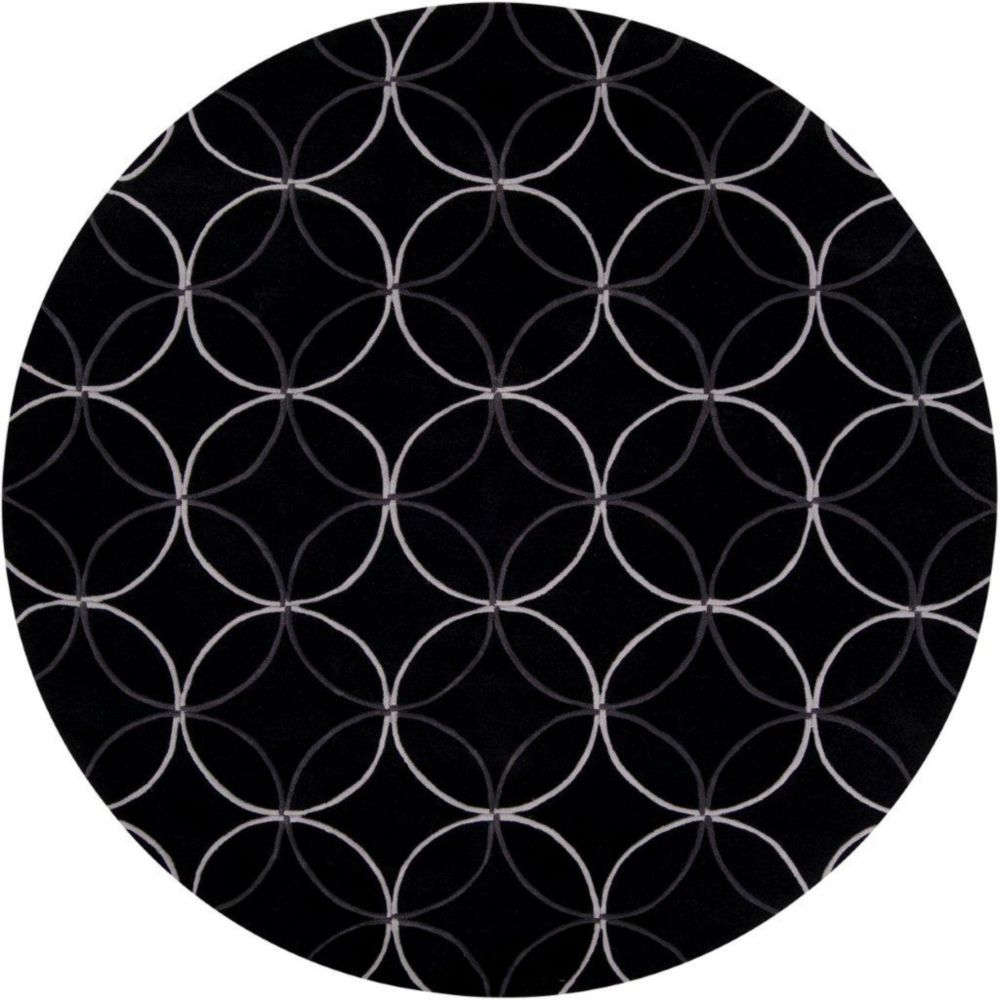 artistic weavers killem black polyester 8 feet round area