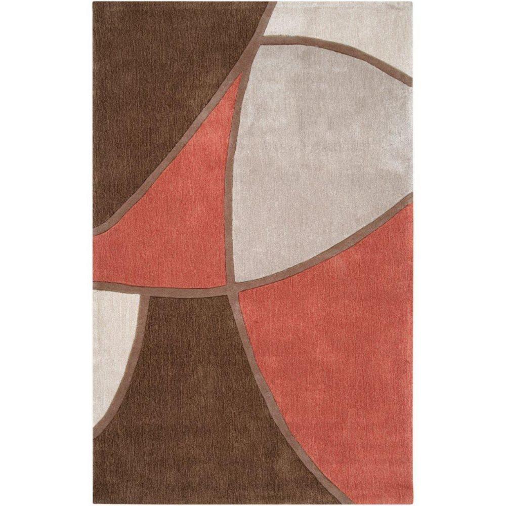 Tapis Kilstett brun polyester 3 Pi. 6 Po. x 5 Pi. 6 Po.