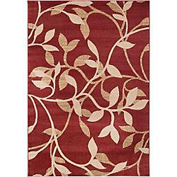 Artistic Weavers Tapis de passage d'intérieur, 2 pi x 7 pi 5 po, style transitionnel, rouge Lacombe