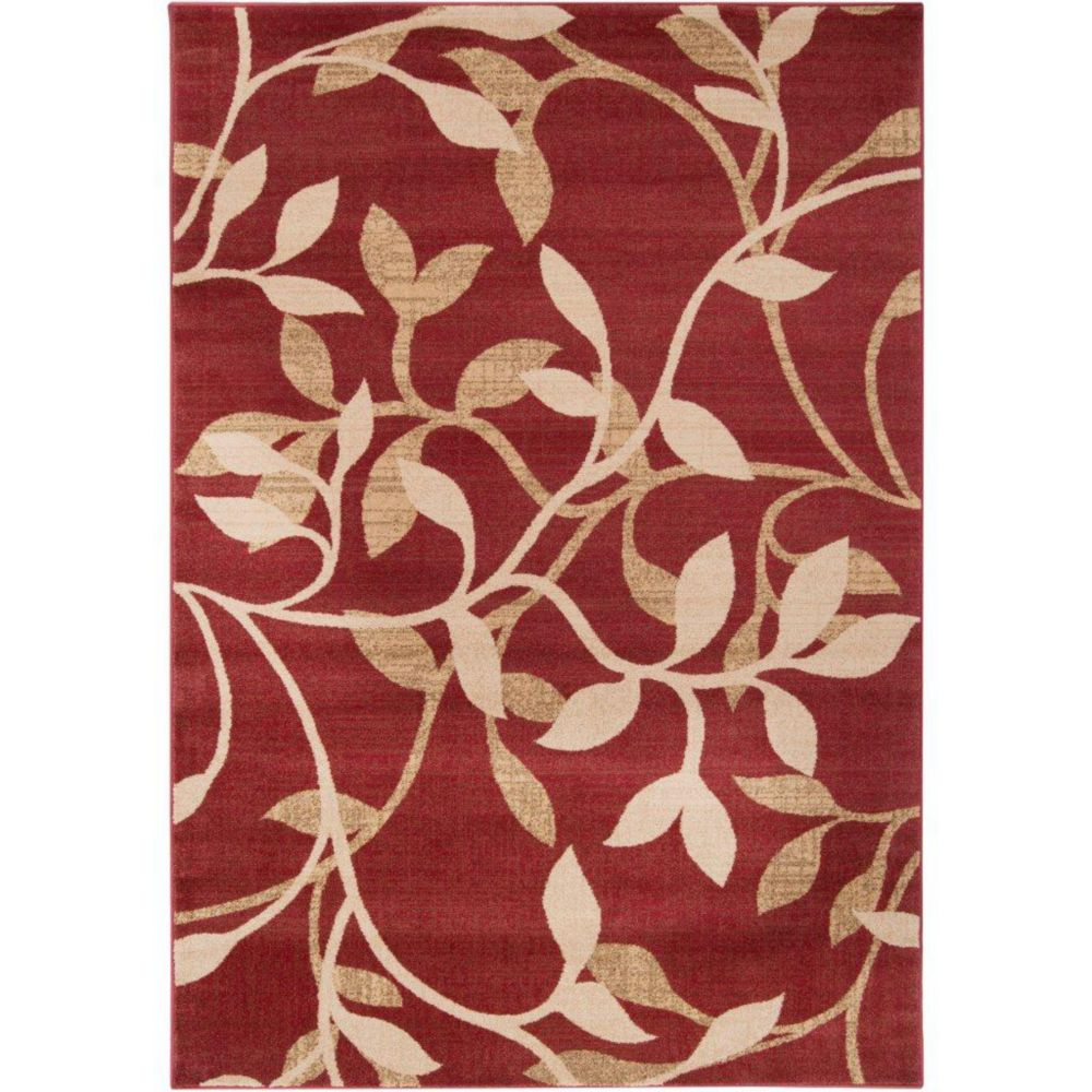 Lacombe Tea Leaves Polypropylene  - 5 Ft. 3 In. x 7 Ft. 6 In. Area Rug