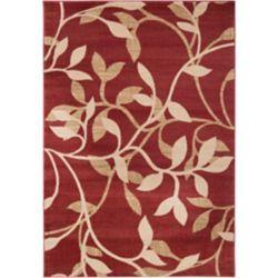 Artistic Weavers Carpette d'intérieur, 6 pi 6 po x 9 pi 8 po, style transitionnel, rectangulaire, rouge Lacombe