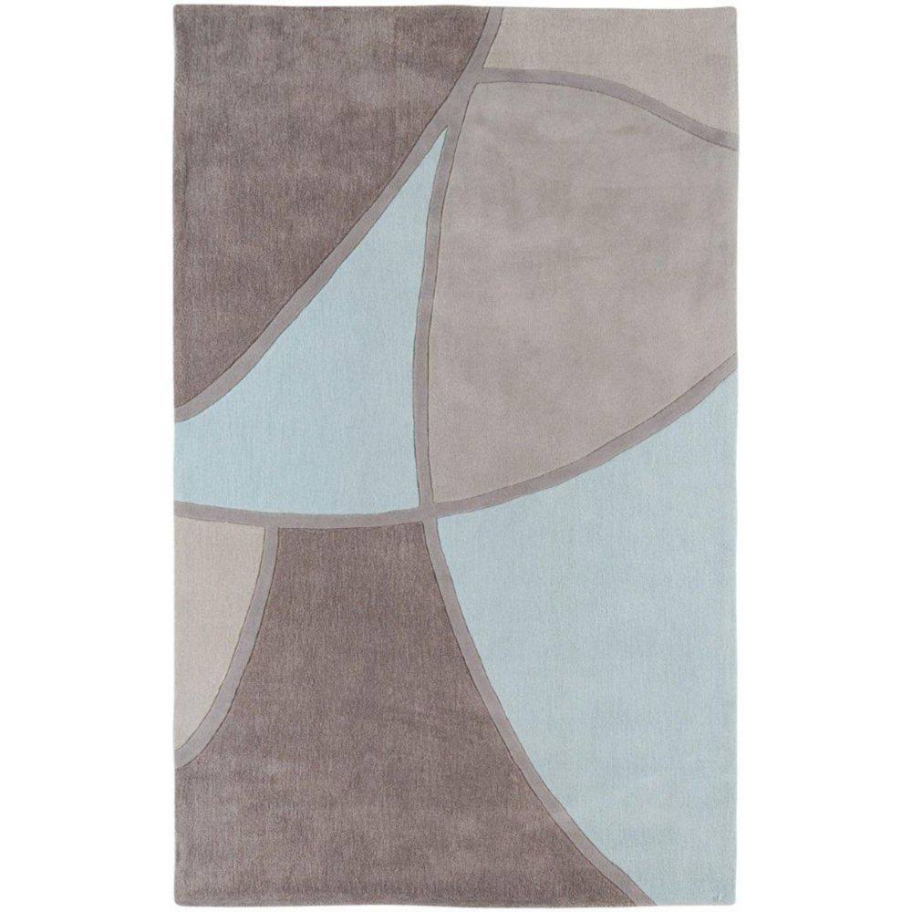 Mably Gray Polyester 5 Ft. x 8 Ft. Area Rug