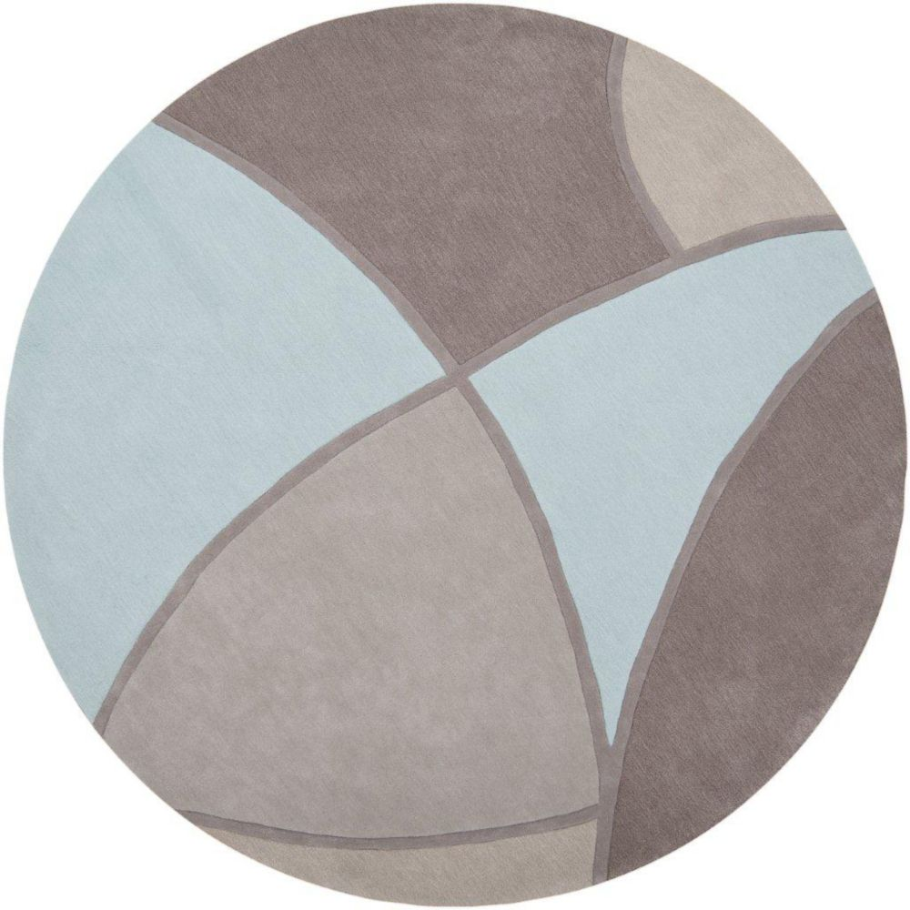 Mably Gray Polyester 8 Feet Round Area Rug
