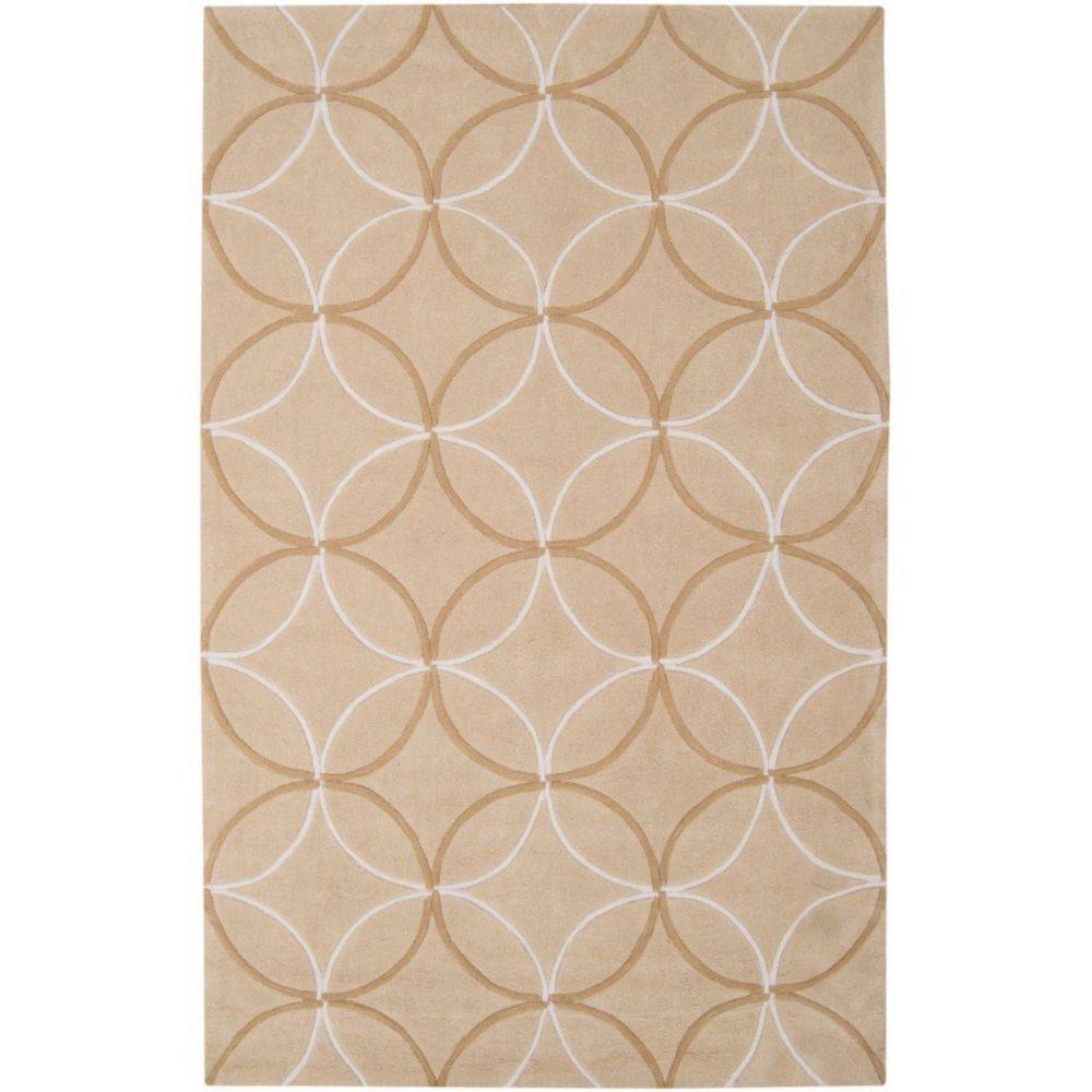 Tapis Jardin brun clair polyester 5 Pi. x 8 Pi.