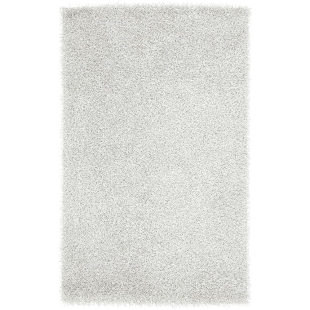 Richmond White Polyester 5 Ft. x 8 Ft. Area Rug