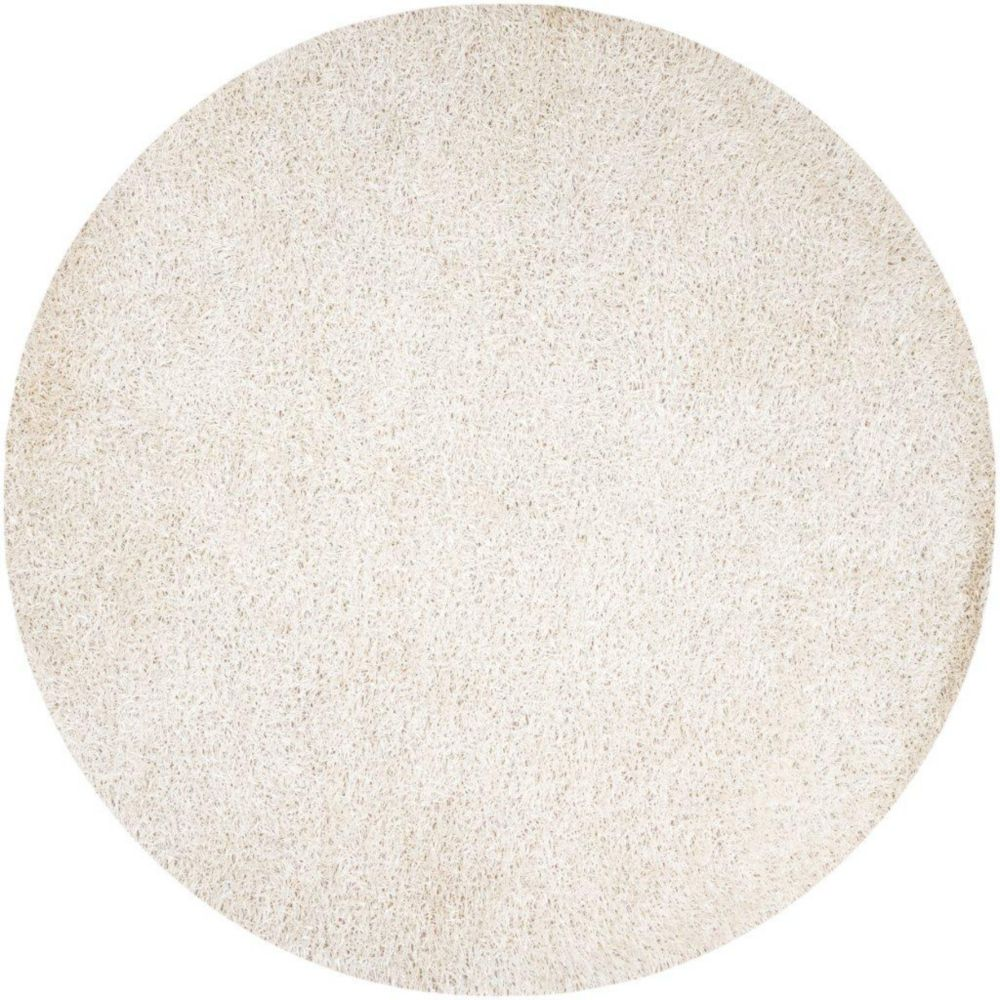 Richmond White Polyester Area Rug - 8 Feet Round Richmond-8RD in Canada