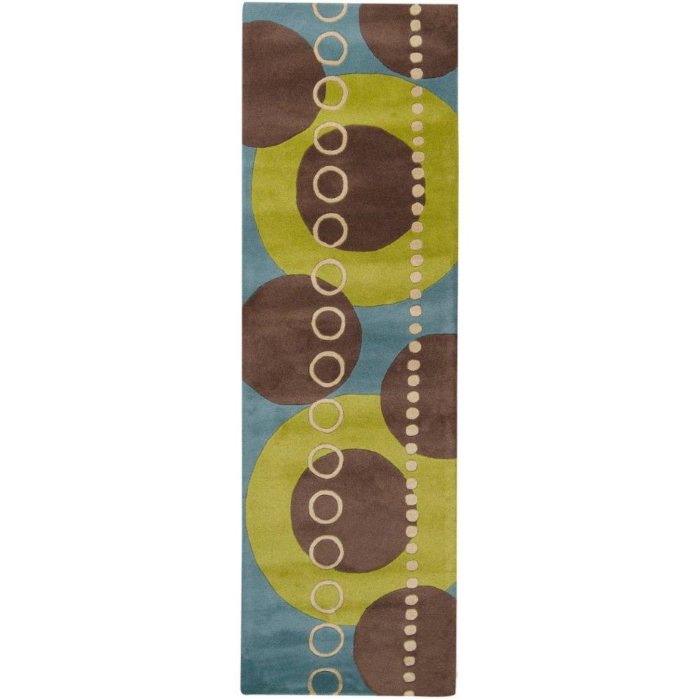 Artistic Weavers Rismes Green 2 ft. 6-inch x 8 ft. Indoor Contemporary Runner