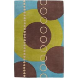 Artistic Weavers Rismes Green 4 ft. x 6 ft. Indoor Contemporary Rectangular Area Rug