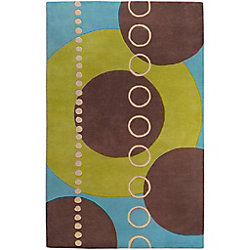 Artistic Weavers Rismes Green 6 ft. x 9 ft. Indoor Contemporary Rectangular Area Rug
