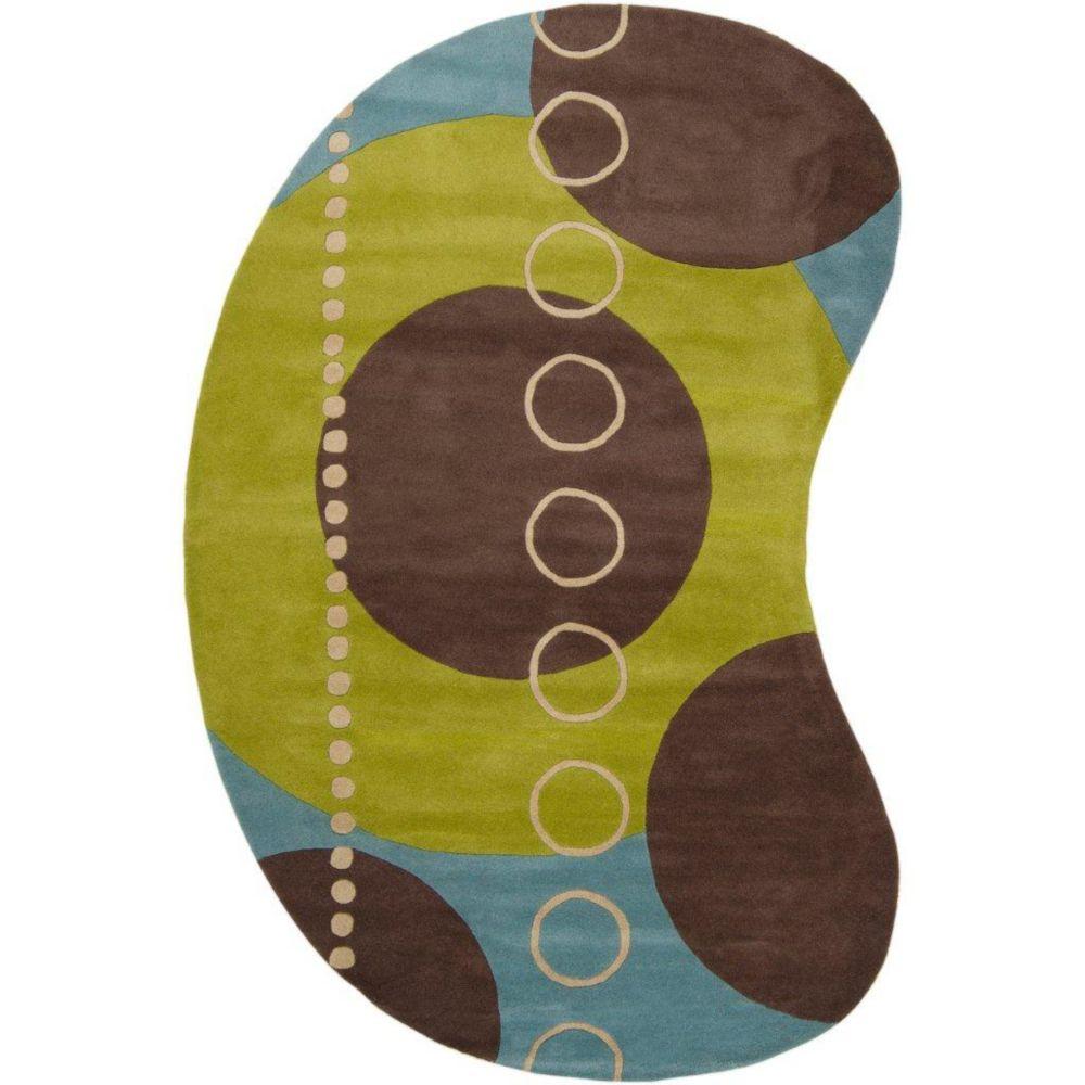 Artistic Weavers  Tapis Rismes ciel en laine 8 Pi. x 10 Pi.