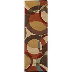 Artistic Weavers Tapis de passage d'intérieur, 2 pi 6 po x 8 pi, style contemporain, brun Sablet
