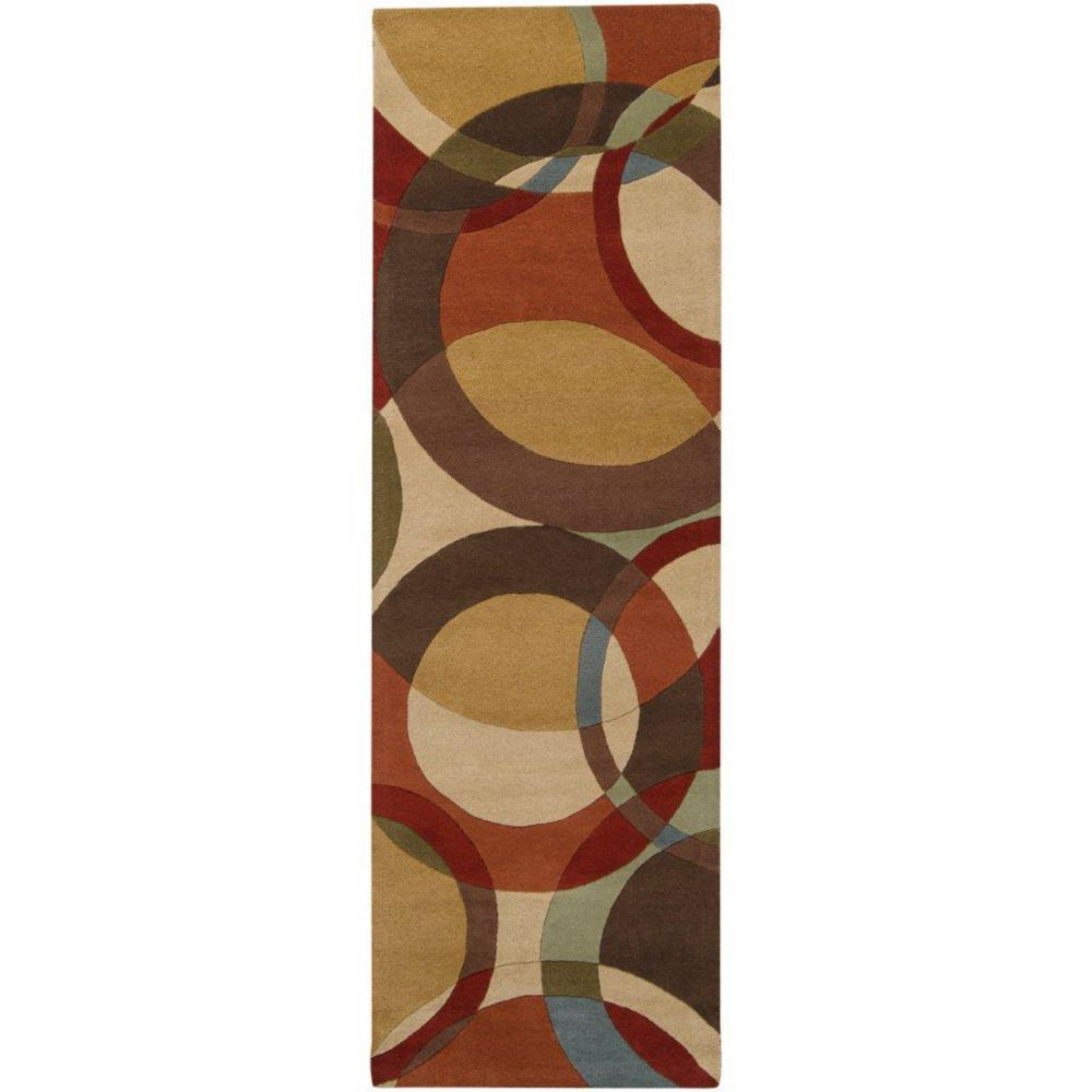Sablet Chocolate Wool 3 Ft. x 12 Ft. Area Rug