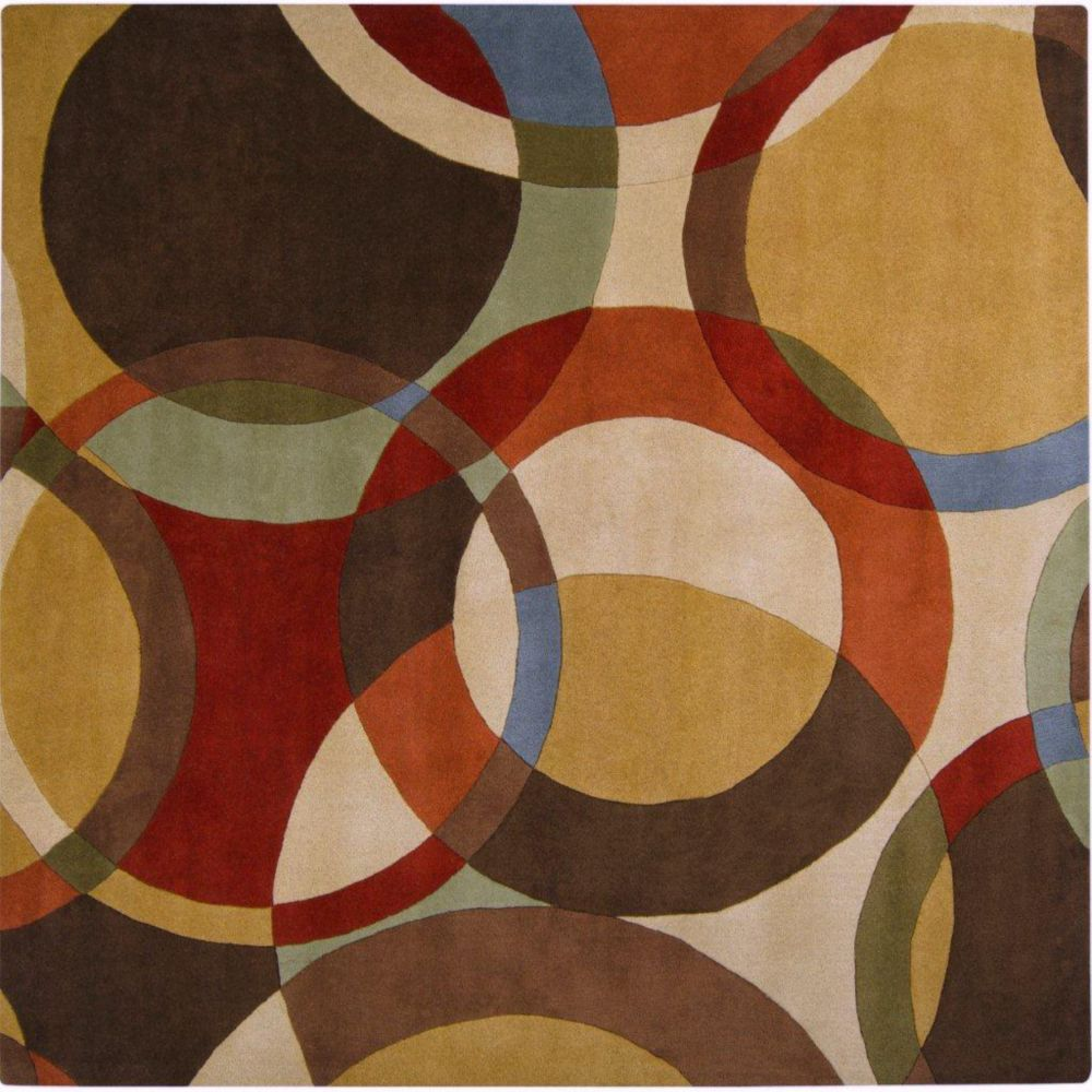 Sablet Chocolate Wool 9 Feet x 9 Feet Square Area Rug