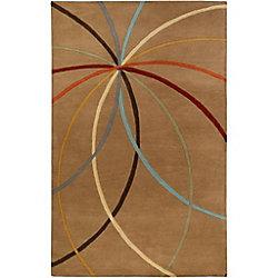 Artistic Weavers Sache Brown 4 ft. x 6 ft. Indoor Contemporary Rectangular Area Rug