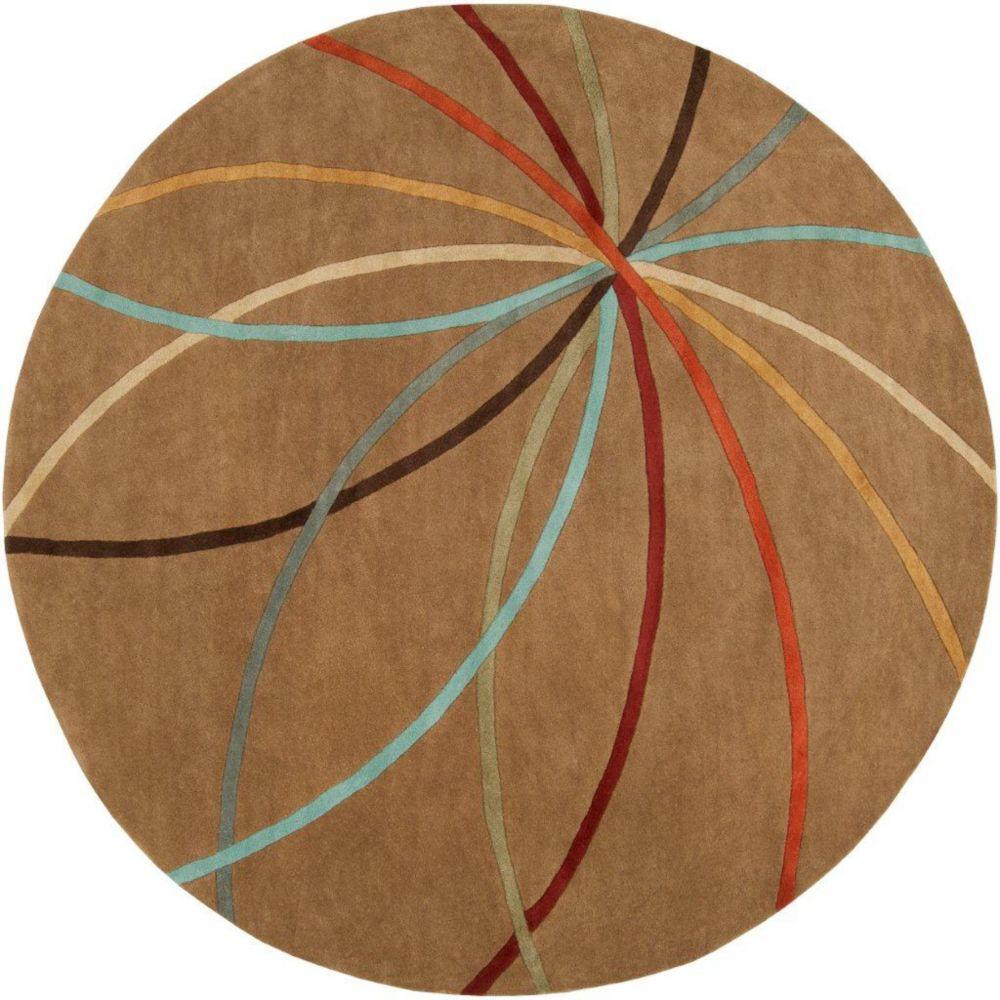 Sache Mocha Wool 8 Ft. Round Area Rug