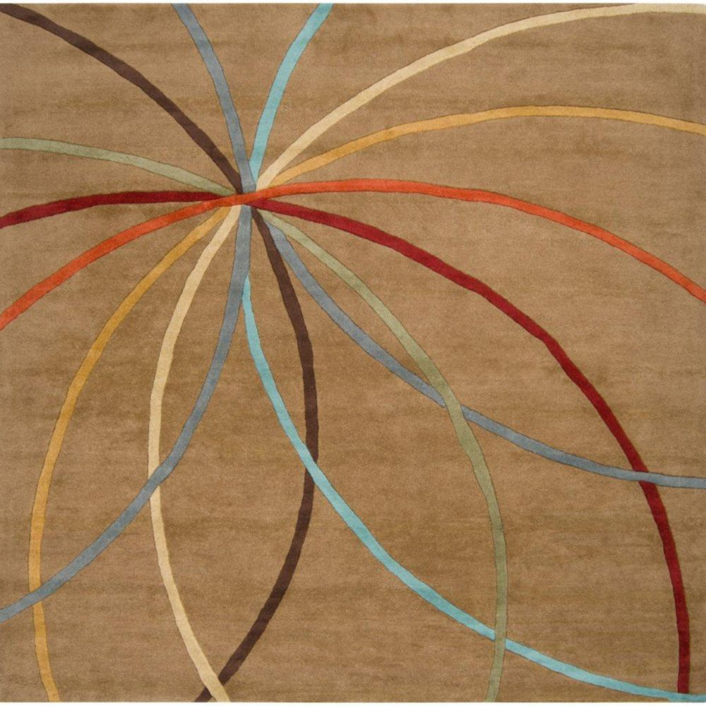 Sache Mocha Wool 8 Ft. Square Area Rug