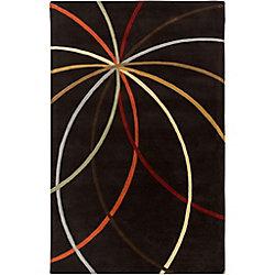 Artistic Weavers Carpette d'intérieur, 2 pi x 3 pi, style contemporain, rectangulaire, noir Sadirac