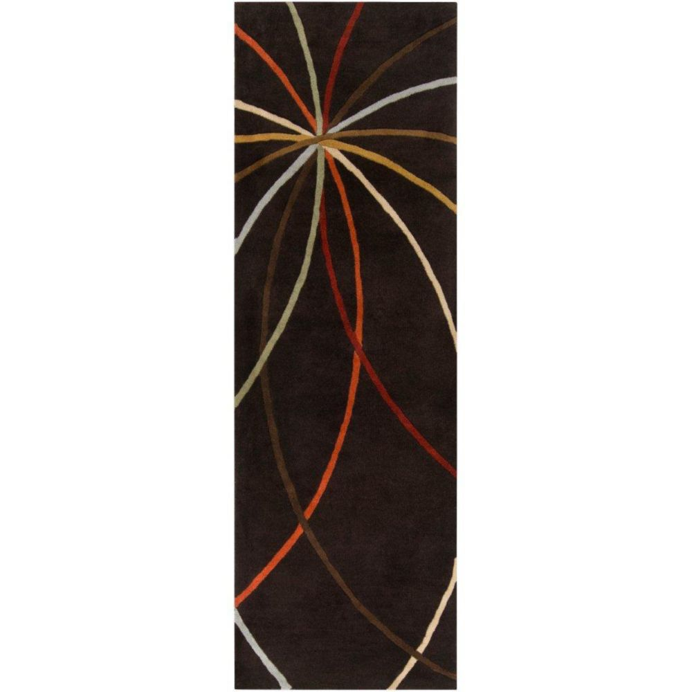 Sadirac Chocolate Wool Area Rug - 3 Feet x 12 Feet Sadirac-312 Canada Discount