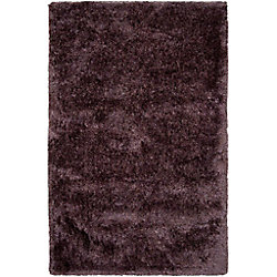 Artistic Weavers Carpette d'intérieur, 5 pi x 8 pi, à poils longs, rectangulaire, gris Tallende