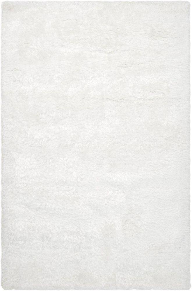 Tapis Talmont blanc en polyester 5 Pi. x 8 Pi.
