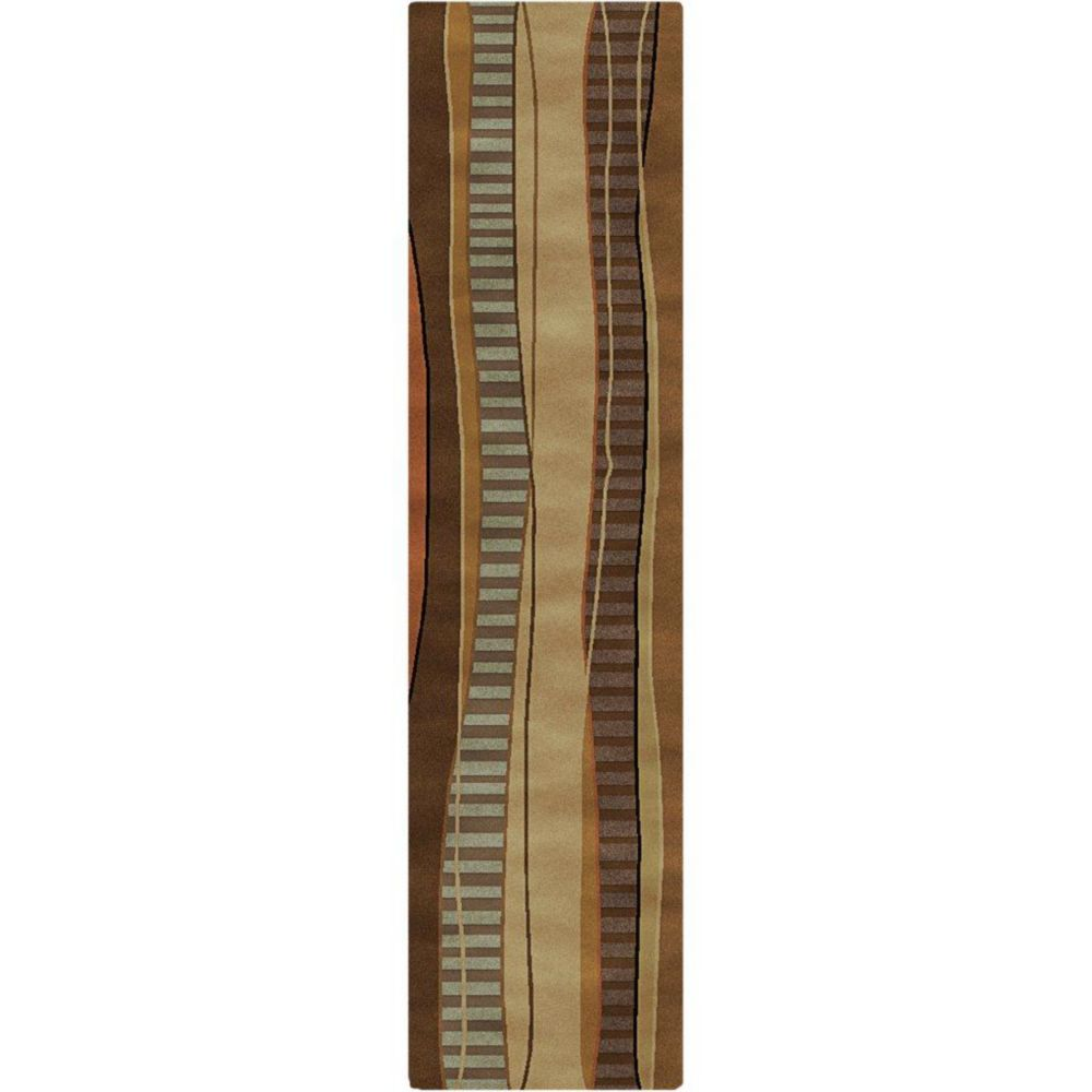 Taninges Cocoa Semi-Worsted New Zealand Wool 2 Feet 6 Inch x 10 Feet Runner