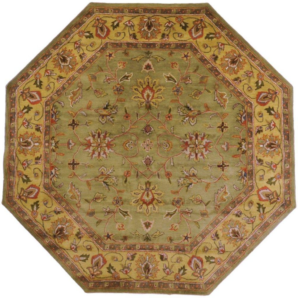Pabu Fern Wool Octagon  - 8 Ft. Area Rug