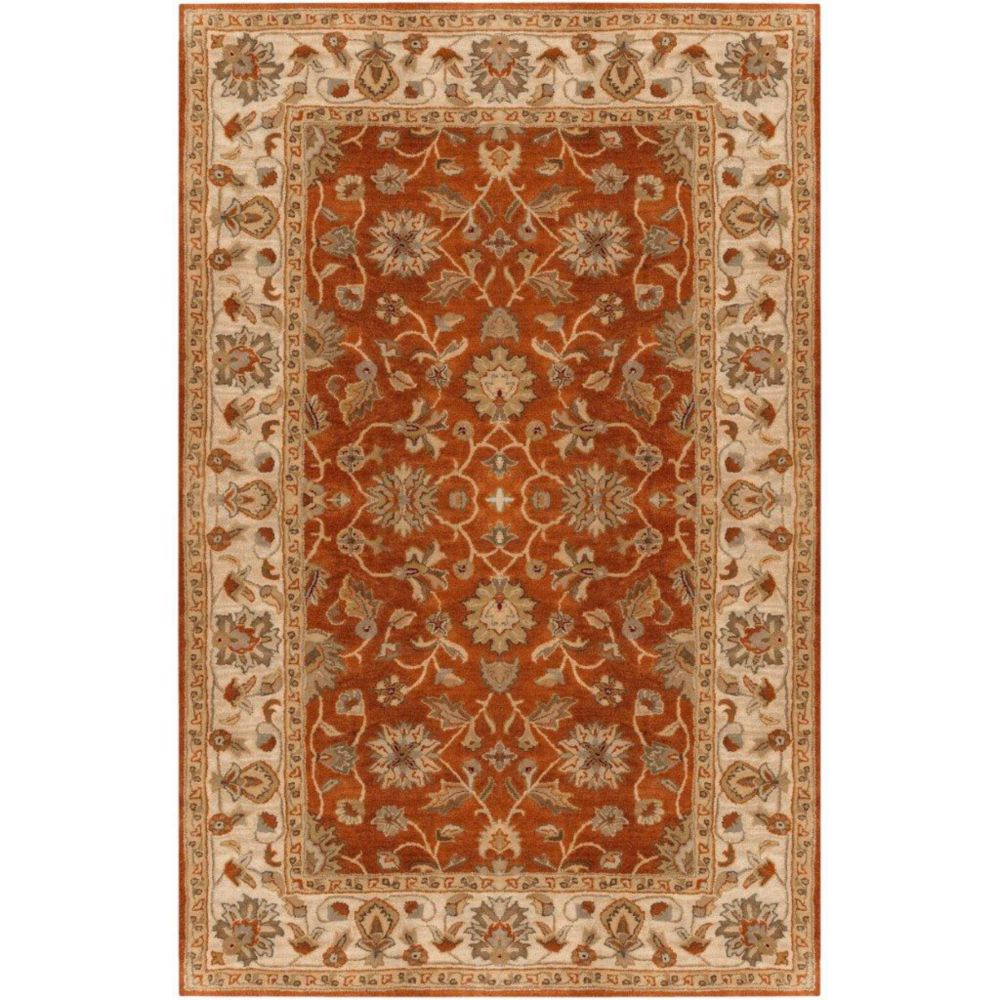Paillet Terracotta Wool  - 10 Ft. x 14 Ft. Area Rug