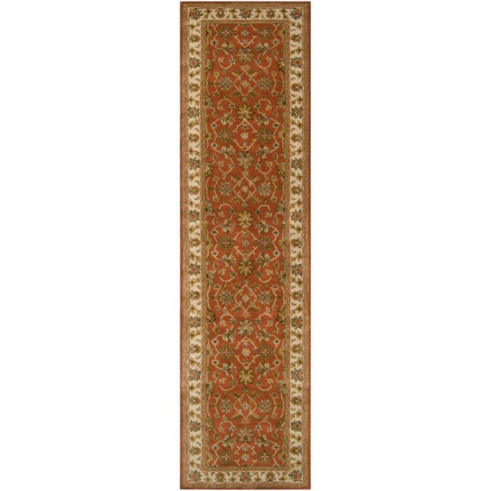 Paillet Terracotta Wool  - 3 Ft. x 12 Ft. Area Rug