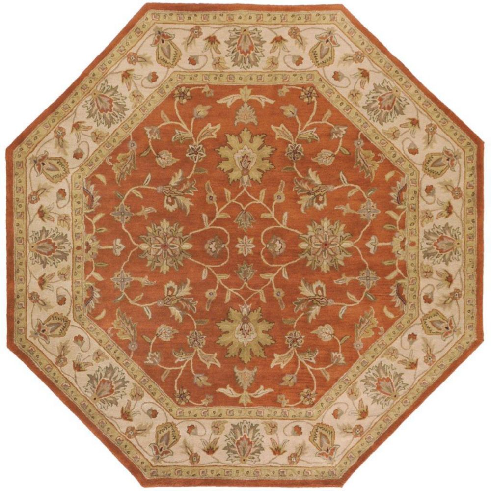 Paillet Terracotta Wool Octagon  - 8 Ft. Area Rug