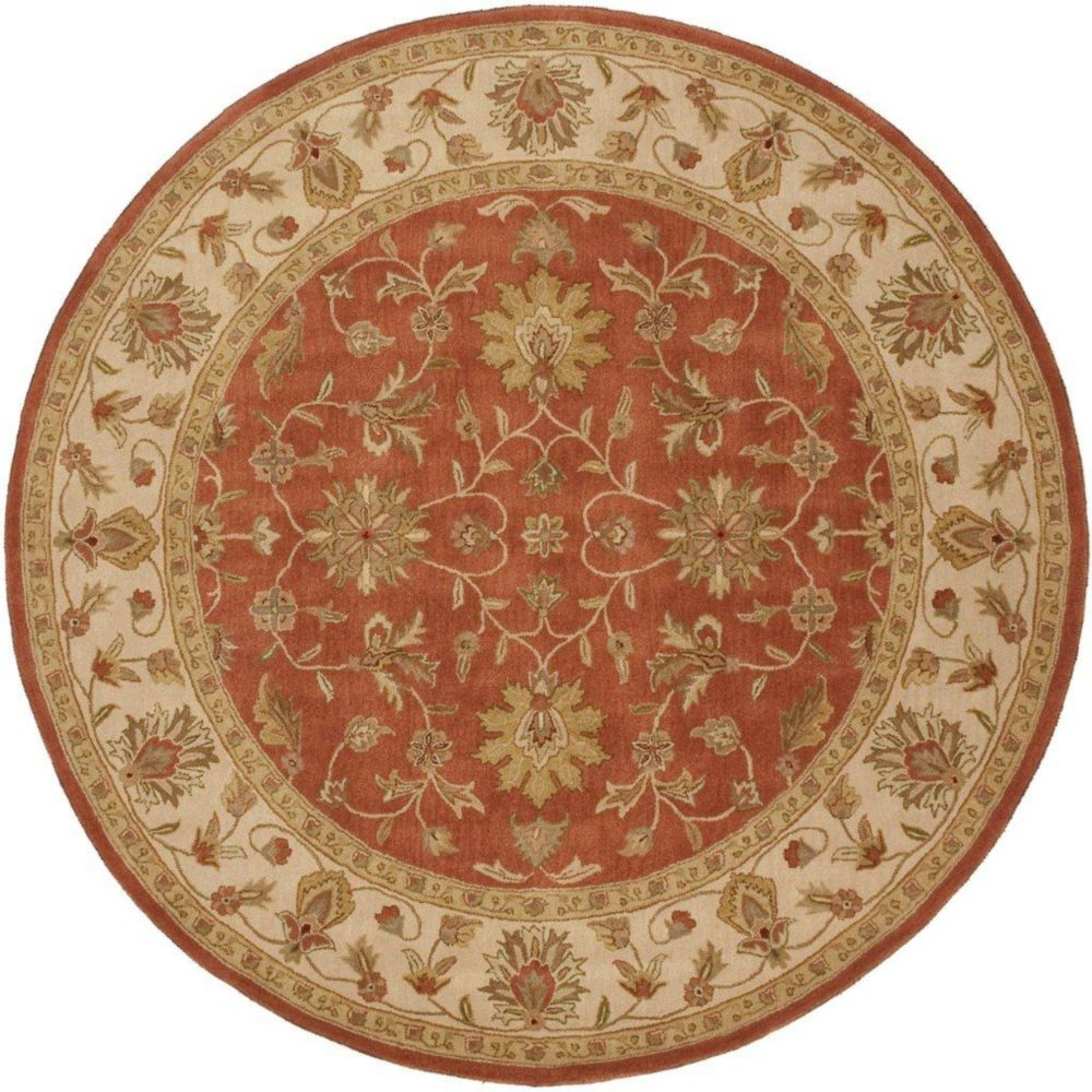 Paillet Terracotta Wool Round - 8 Ft. Area Rug Paillet-8RD Canada Discount