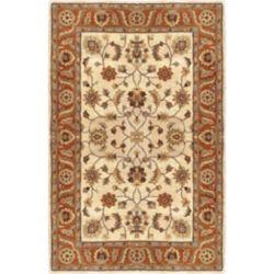 Artistic Weavers Carpette d'intérieur, 6 pi x 9 pi, style traditionnel, rectangulaire, havane Paimpont