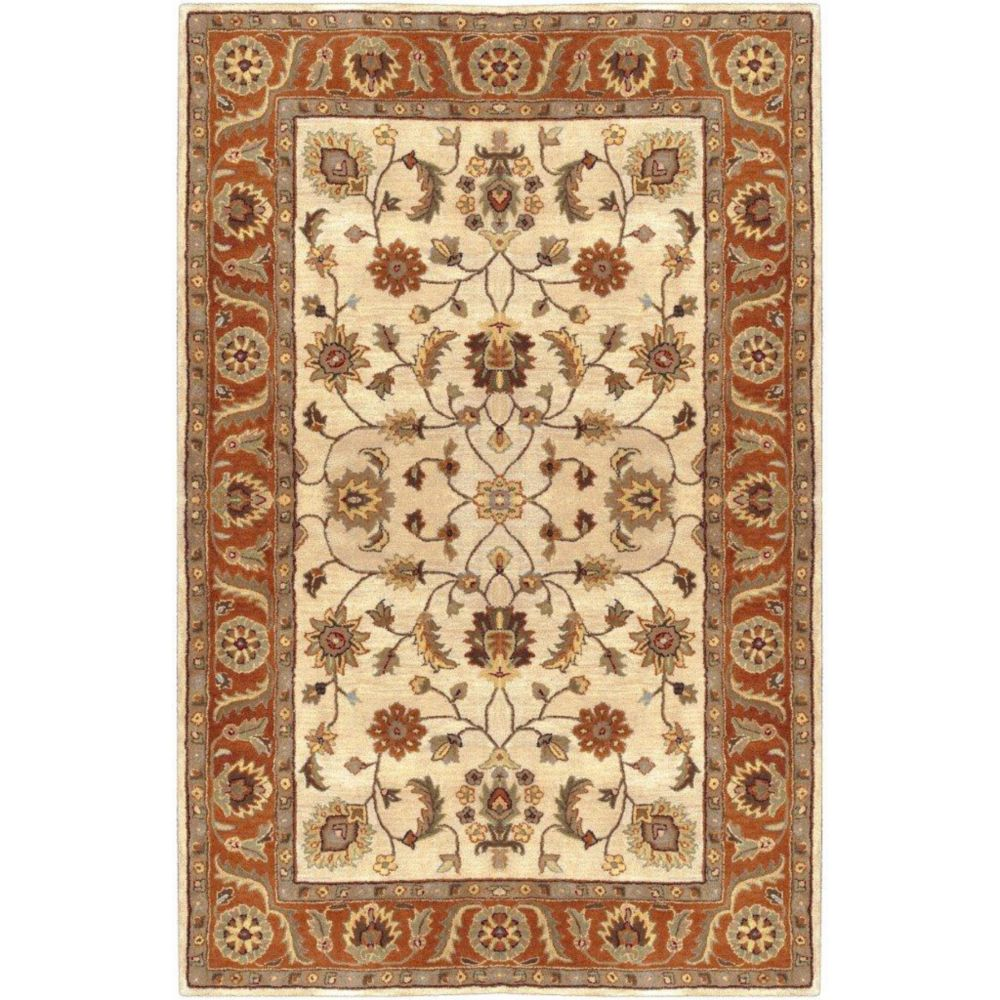 Paimpont Golden Beige Wool  - 8 Ft. x 11 Ft. Area Rug