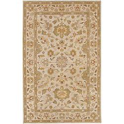 Artistic Weavers Carpette d'intérieur, 4 pi x 6 pi, style traditionnel, rectangulaire, havane Palaja