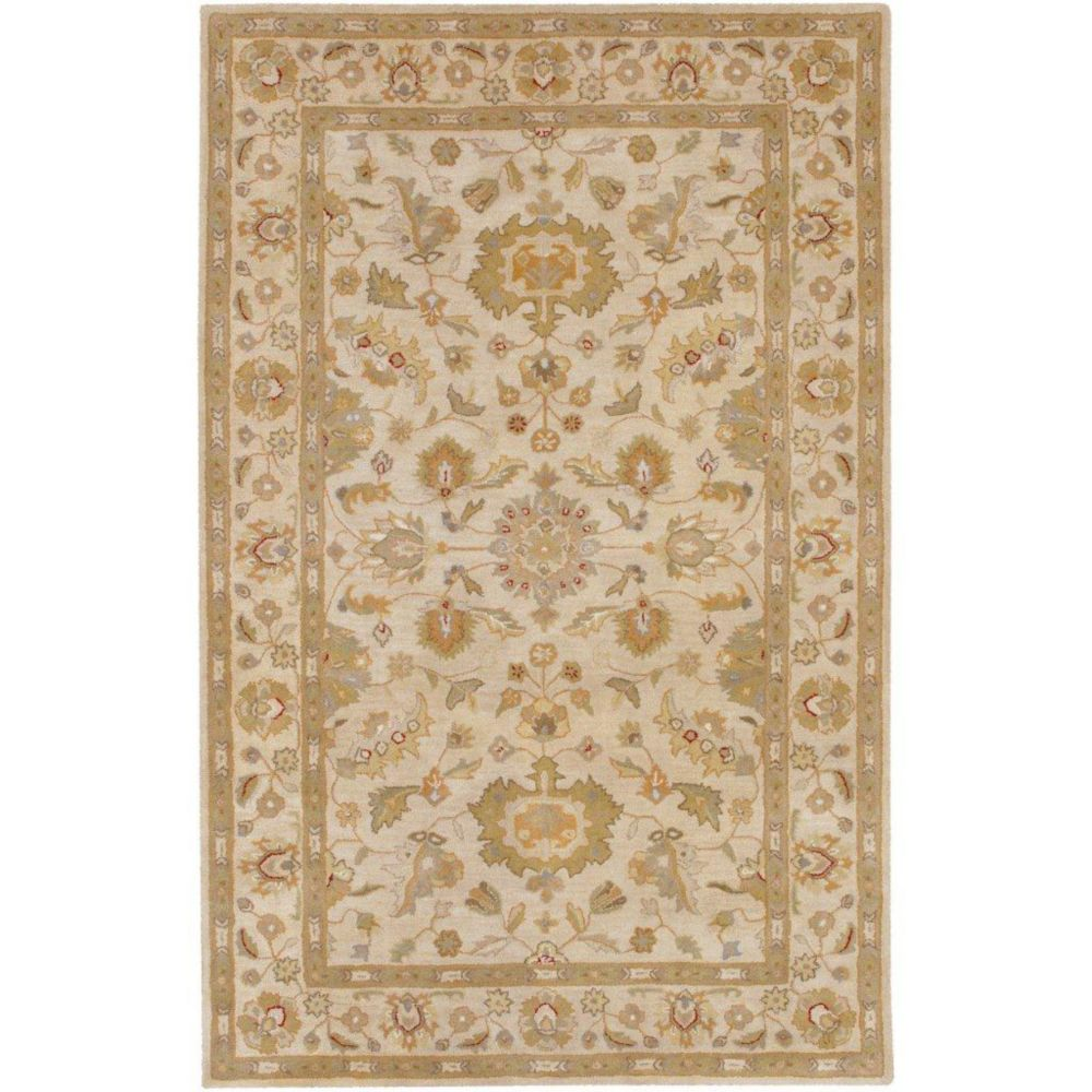 Palaja Beige Wool  - 8 Ft. x 11 Ft. Area Rug