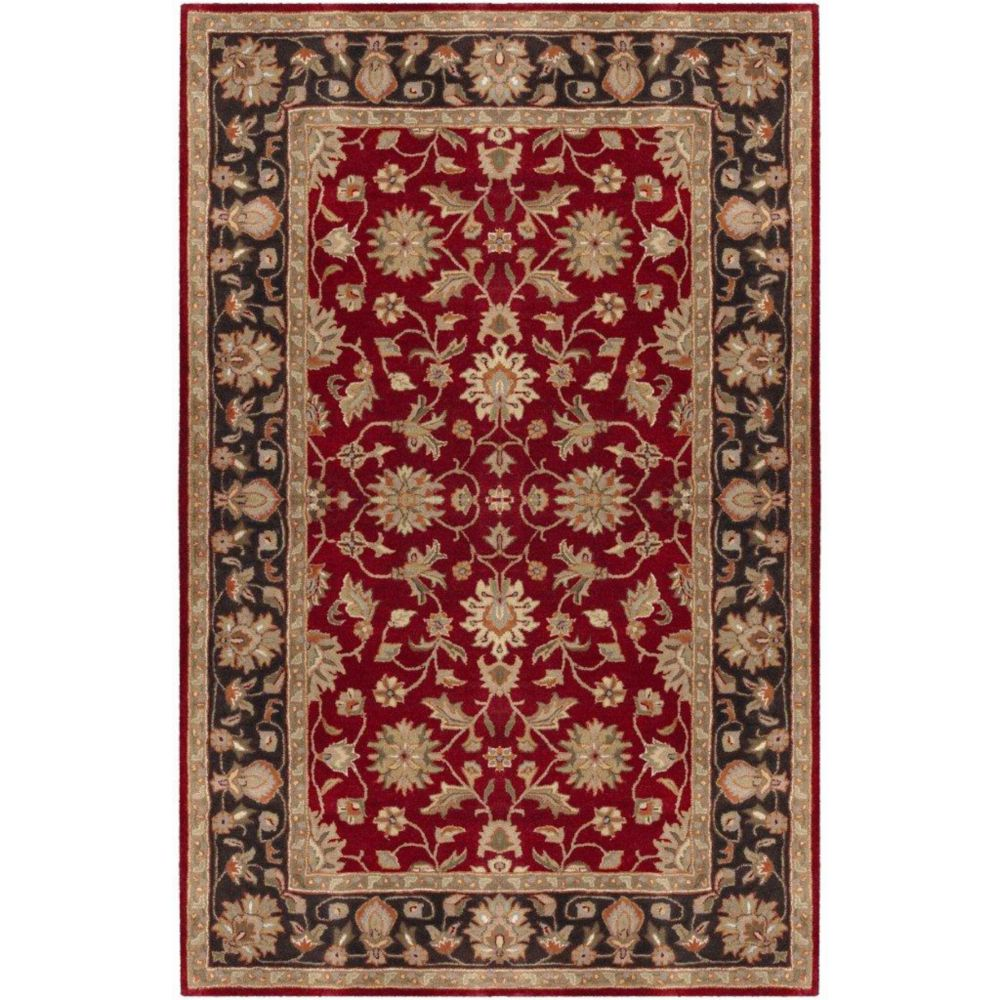 Palinges Burgundy Wool  - 6 Ft. x 9 Ft. Area Rug