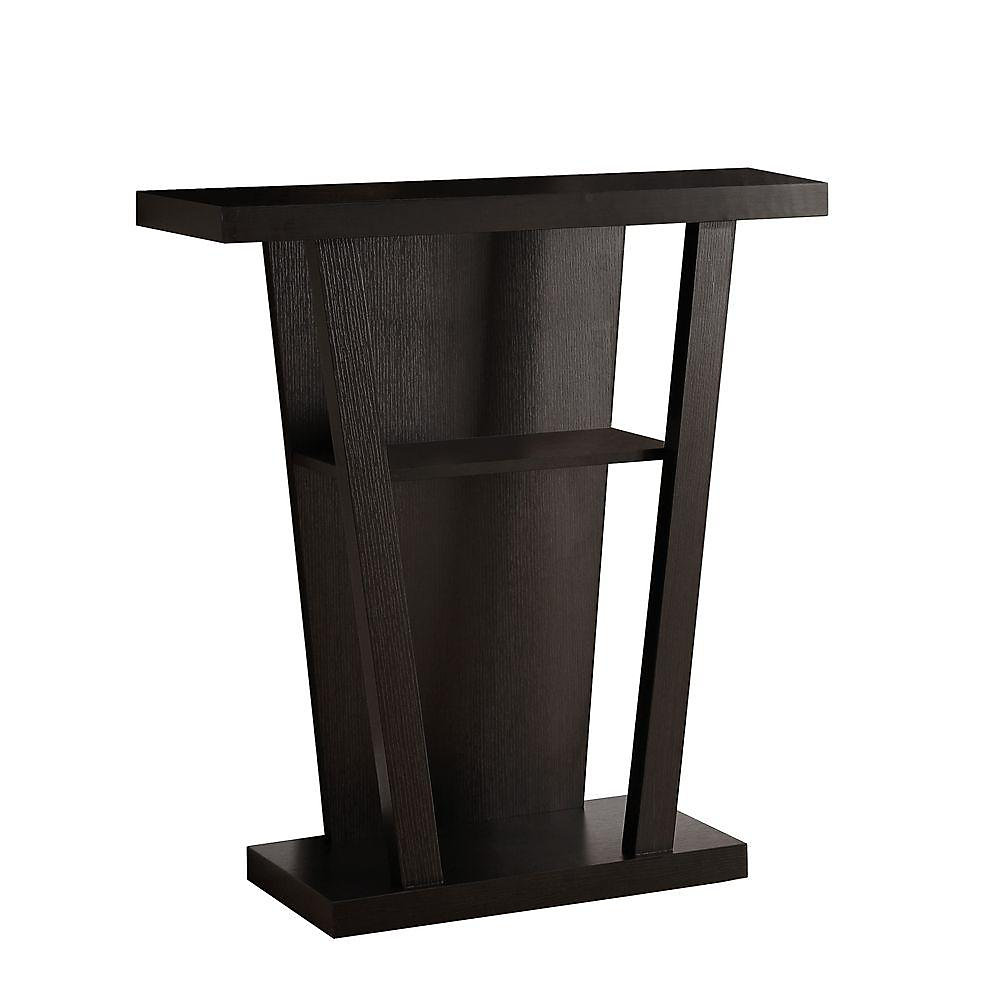 Awesome 32 Inch L Hall Console Accent Table In Cappuccino Interior Design Ideas Inesswwsoteloinfo