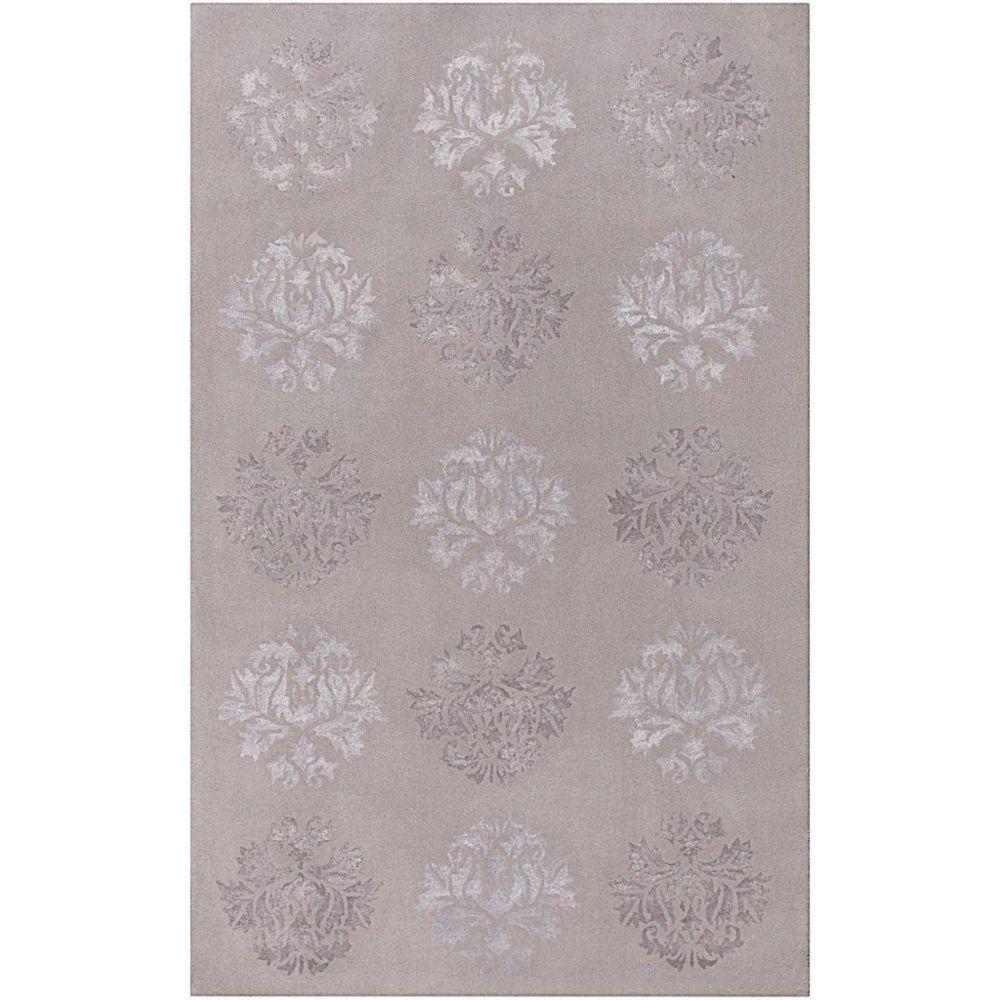 Penticton Light Gray Wool / Viscose  - 8 Ft. x 11 Ft. Area Rug