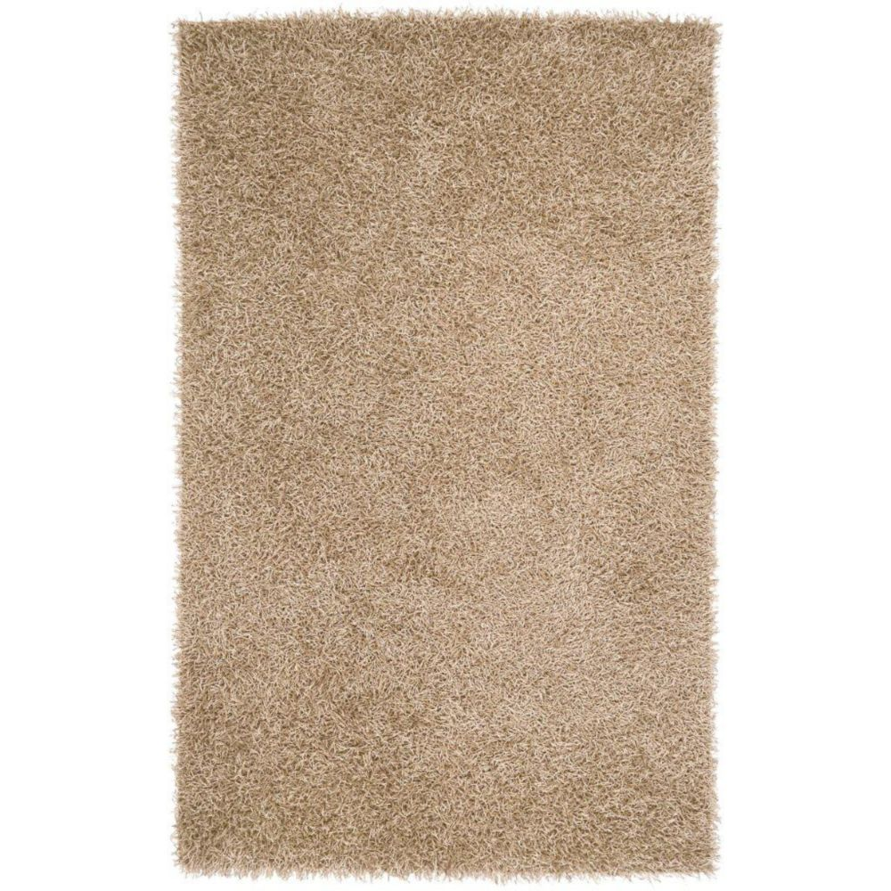 Powell Gold Polyester 2 Ft. 6 In. x 4 Ft. 2 In. Accent Rug