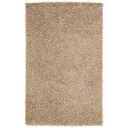 Artistic Weavers Carpette d'intérieur, 3 pi 6 po x 5 pi 6 po, à poils longs, rectangulaire, or Powell