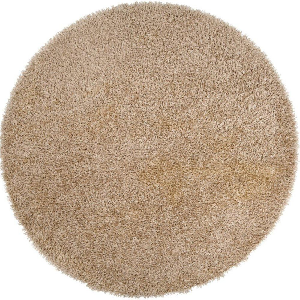Powell Gold Polyester 8 Ft. Round Area Rug