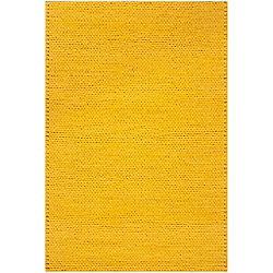 Artistic Weavers Carpette d'intérieur, 5 pi x 8 pi, tissage texturé, rectangulaire, jaune Quebriac