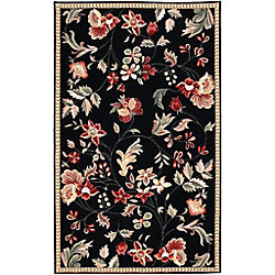 Artistic Weavers Carpette d'intérieur, 2 pi x 2 pi 9 po, style transitionnel, rectangulaire, noir Quend