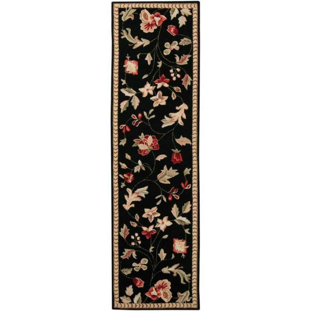 Quend Black Wool Accent Rug - 2 Ft. 3 In. x 8 Ft. Area Rug
