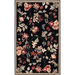 Artistic Weavers Carpette d'intérieur, 9 pi x 10 pi, style transitionnel, rectangulaire, noir Quend