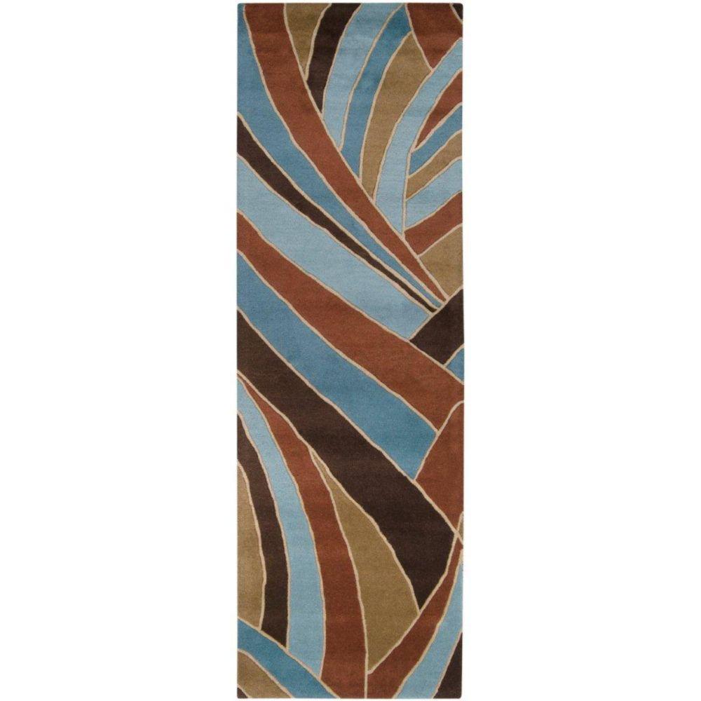 Querrien Sky Wool Area Rug - 3 Feet x 12 Feet Querrien-312 Canada Discount