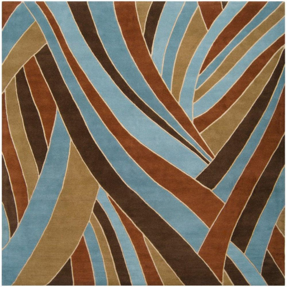 Querrien Sky Wool 4 Feet Square Area Rug