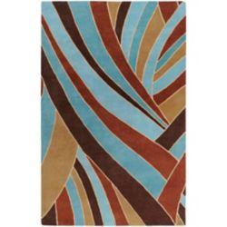 Artistic Weavers Carpette d'intérieur, 8 pi x 11 pi, style contemporain, rectangulaire, bleu Querrien
