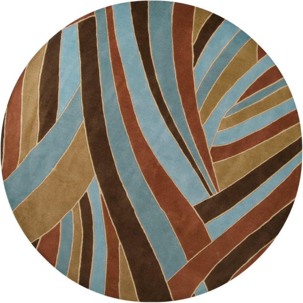 Querrien Sky Wool Area Rug - 9 Feet 9 Inches Round
