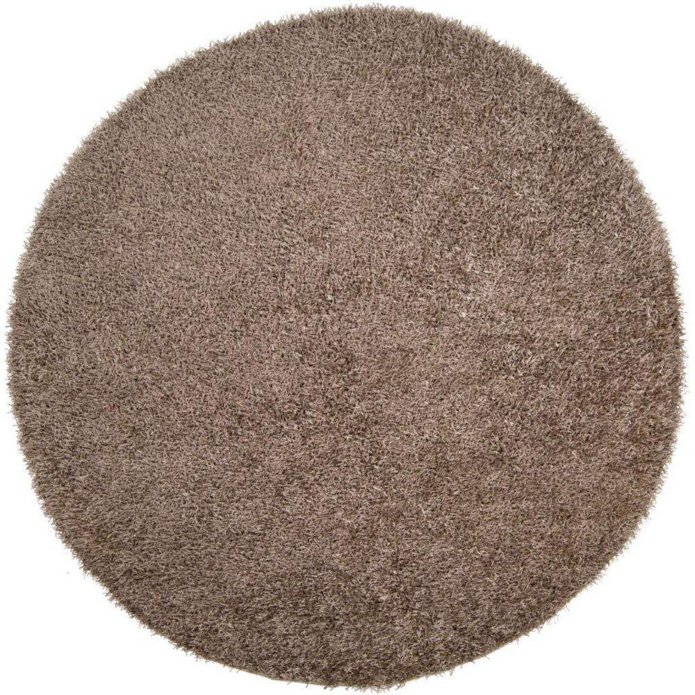 Tapis Quesnel argent polyester 10 Pi., rond