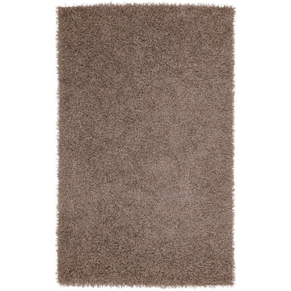 Quesnel Silver Polyester 3 Ft. 6 In. x 5 Ft. 6 In. Area Rug